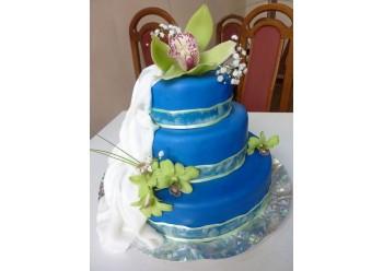Tort nunta cu orhidee