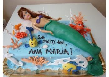 Tort cu sirena si pesti
