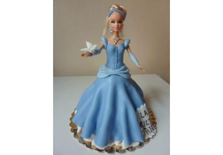 Tort printesa cu rochita albastra