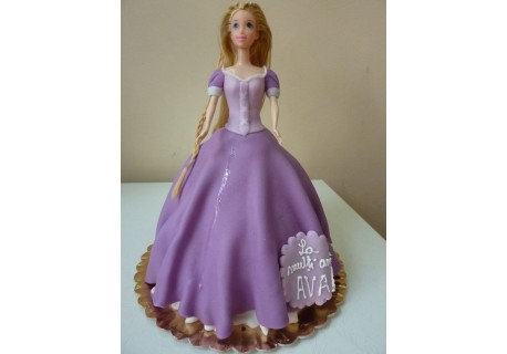 Tort printesa cu rochita mov