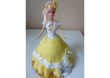 Tort printesa cu rochita galbena