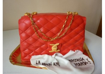 Tort poseta Chanel rosie
