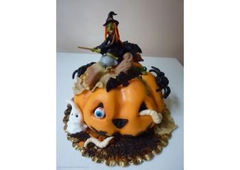 Tort dovleac de Halloween
