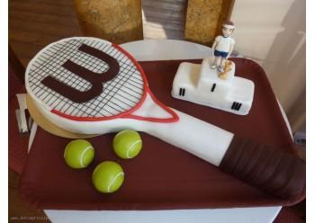 Tort paleta de tenis si campion