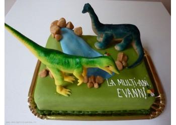 Tort cu dinozauri