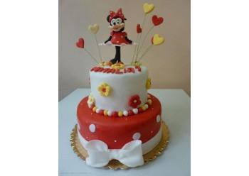 Tort Minnie cu inimioare