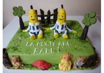 Tort Banane in pijamale