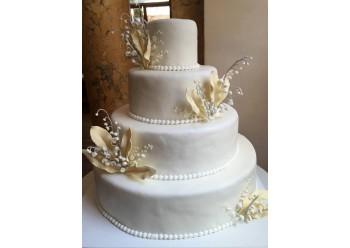 Tort de nunta cu lacramioare