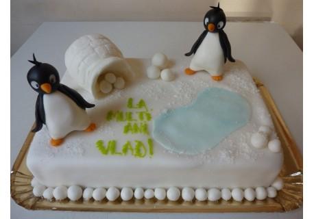 Tort cu pinguini si iglu