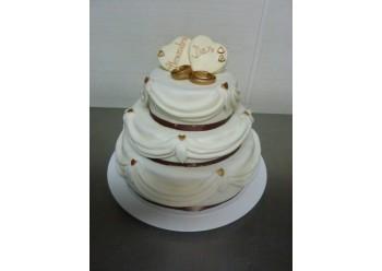 Tort nunta cu verighete