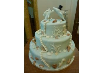 Tort nunta cu delfini