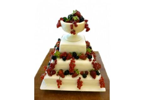 Tort nunta cu fructe