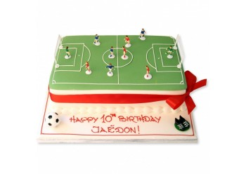 Tort footbal pitch cake