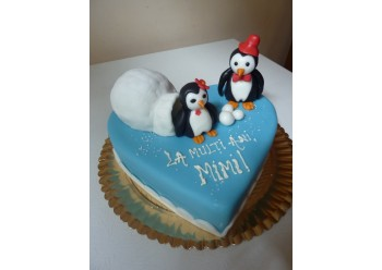 Tort pinguini in iglu