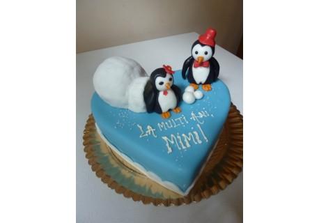 Tort pinguini in iglu