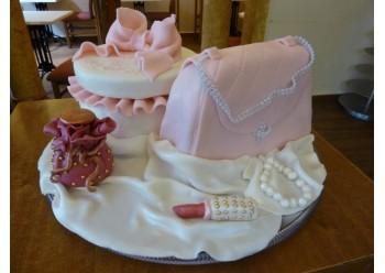 Tort poseta roz